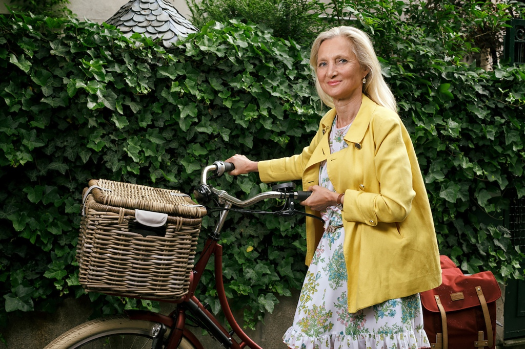 Clara Gaymard Bicycle Ride