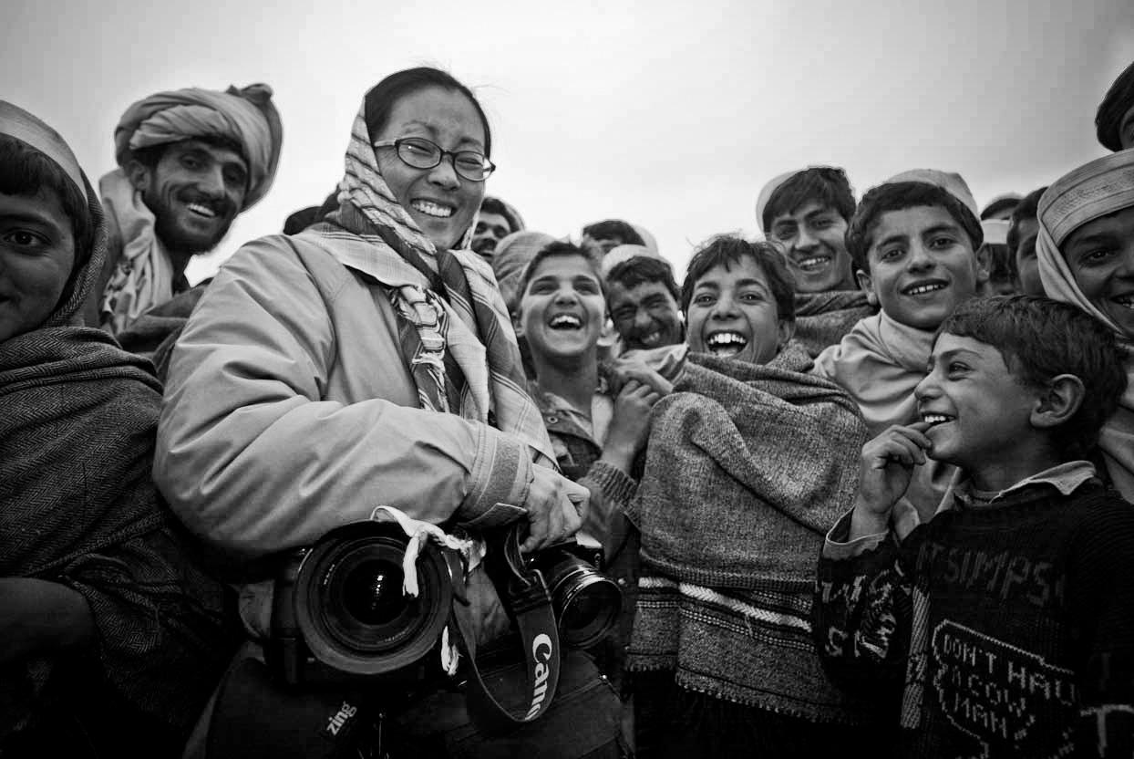 Photo by Paula bronstein of Yunghi Kim, Gardez, Afghanistan 2002