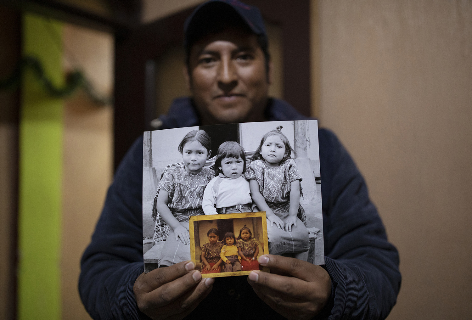 Picture of Two Sisters and Their Younger Brother Taken In Nebaj, Guatemala In 1984